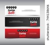 black friday sale design banner ...   Shutterstock .eps vector #744138646