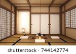 interior design living room... | Shutterstock . vector #744142774