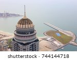 Small photo of DUBAI, UAE - JAN 15, 2017: Princess tower near sea, height of building is 414 m, with 101 floors - this is second tallest residential building in world