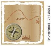 treasure map. vector... | Shutterstock .eps vector #74415088