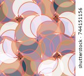 abstract colorful pattern for... | Shutterstock . vector #744151156