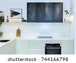 modern home interior. front... | Shutterstock . vector #744166798