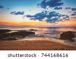 Coast Of The Sea At Colorful...