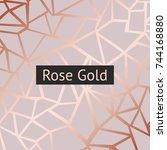 rose gold. vector decorative... | Shutterstock .eps vector #744168880