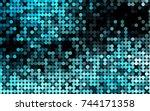 light blue vector red pattern... | Shutterstock .eps vector #744171358