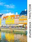 copenhagen  denmark  august 21  ... | Shutterstock . vector #744172108