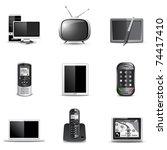 communication technology   b w...   Shutterstock .eps vector #74417410