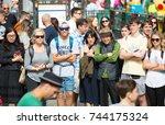 london  uk   august 24  2017 ... | Shutterstock . vector #744175324