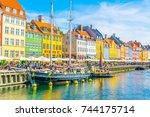 copenhagen  denmark  august 21  ...   Shutterstock . vector #744175714