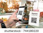 qr code payment   online... | Shutterstock . vector #744180220