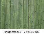 Wooden Background. Old Green...