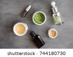 natural skincare facial and... | Shutterstock . vector #744180730