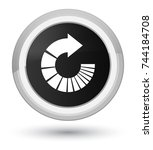 rotate arrow icon isolated on...   Shutterstock . vector #744184708