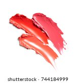 lipstick strokes isolated on... | Shutterstock . vector #744184999