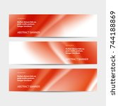 abstract vector banner business ... | Shutterstock .eps vector #744188869