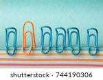 creative concept idea... | Shutterstock . vector #744190306