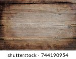 old wood background | Shutterstock . vector #744190954