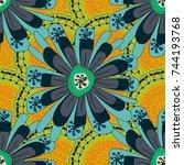 millefleurs. floral seamless... | Shutterstock . vector #744193768