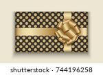 vector modern christmas or 2018 ...   Shutterstock .eps vector #744196258
