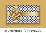 vector modern christmas or 2018 ...   Shutterstock .eps vector #744196270