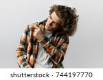 loot at this. isolated portrait ... | Shutterstock . vector #744197770