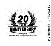 20 years design template....   Shutterstock .eps vector #744201550