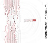 vector circuit board... | Shutterstock .eps vector #744201874
