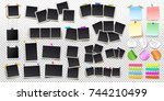 big set of square vector photo... | Shutterstock .eps vector #744210499