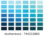 blue color palette vector... | Shutterstock .eps vector #744213883