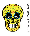 day of the dead vector color...   Shutterstock .eps vector #744214483