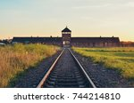 oswiecim  poland   july 29 ... | Shutterstock . vector #744214810