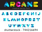 creative design vector font of...