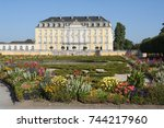 the baroque augustusburg castle ... | Shutterstock . vector #744217960