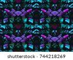aztec pattern. tribal design....   Shutterstock . vector #744218269
