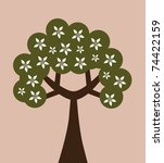 abstract floral tree  symbol of ... | Shutterstock . vector #74422159