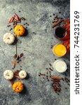 ingredients for cook spicy... | Shutterstock . vector #744231769