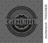 genuine black badge | Shutterstock .eps vector #744233830
