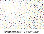 background with irregular ... | Shutterstock .eps vector #744240334