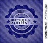 between love and hate badge... | Shutterstock .eps vector #744241300