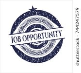 blue job opportunity distress... | Shutterstock .eps vector #744247579
