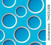 seamless round pattern. circle... | Shutterstock .eps vector #744251308