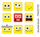 Square Shaped Smileys   Funny...