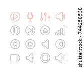 vector illustration of 16... | Shutterstock .eps vector #744258538