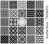 set of monochrome geometric... | Shutterstock .eps vector #74426311