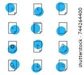 vector illustration of 12 file...