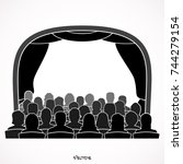 illustration of theatre with... | Shutterstock .eps vector #744279154