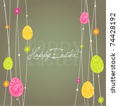 vector illustrated easter card... | Shutterstock .eps vector #74428192