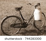 Old Bicycle With A Broken...