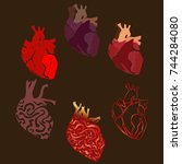 heart set | Shutterstock .eps vector #744284080