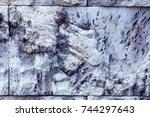 grey rock texture background....   Shutterstock . vector #744297643